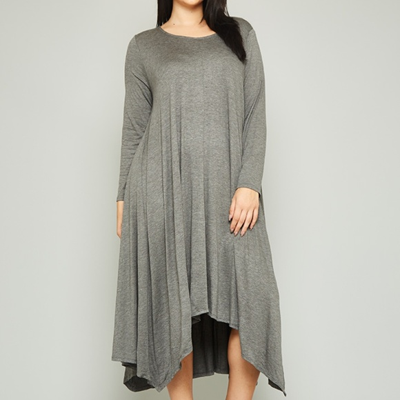 Long Sleeve Maxi Dress with Pockets (Plus Size) Boutique